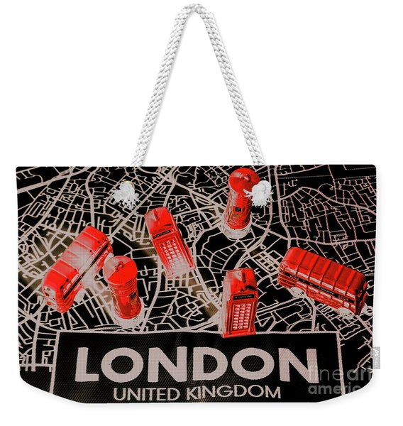 Maps From London Town Weekender Tote Bag
