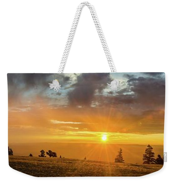 Marble View Sunrays Weekender Tote Bag