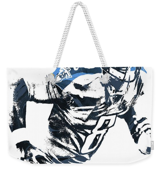 Marcus Mariota Tennesse Titans Pixel Art 2 Weekender Tote Bag