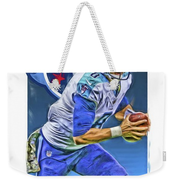 Marcus Mariota Tennessee Titans Oil Art 2 Weekender Tote Bag