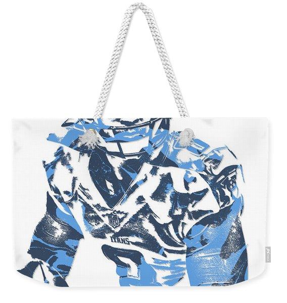 Marcus Mariota Tennessee Titans Pixel Art 10 Weekender Tote Bag