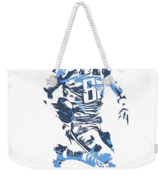 Marcus Mariota Tennessee Titans Pixel Art 11 Weekender Tote Bag