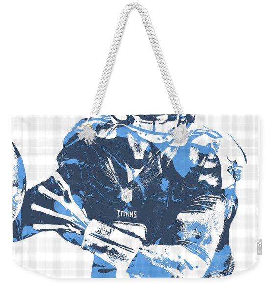Marcus Mariota Tennessee Titans Pixel Art 21 Weekender Tote Bag