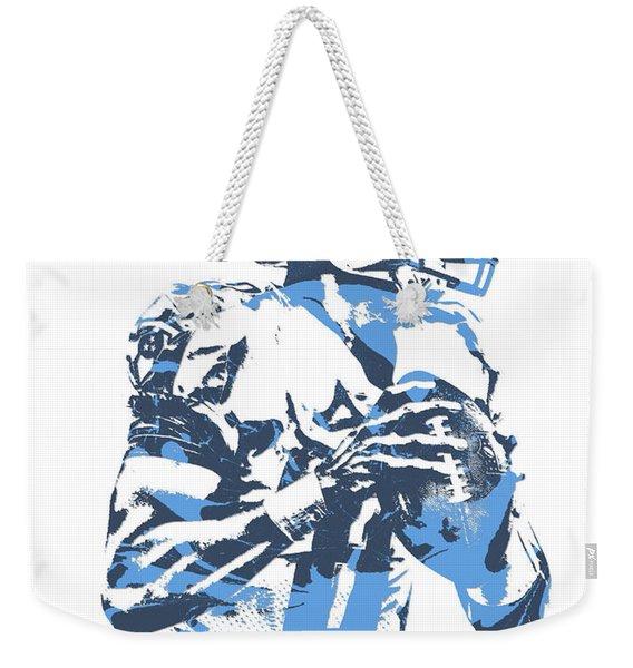 Marcus Mariota Tennessee Titans Pixel Art 23 Weekender Tote Bag