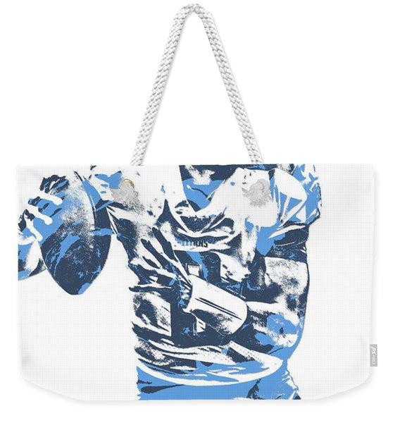 Marcus Mariota Tennessee Titans Pixel Art 24 Weekender Tote Bag