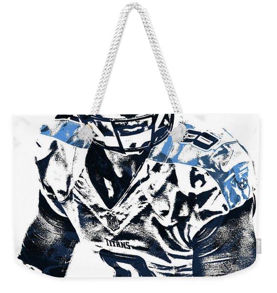 Marcus Mariota Tennessee Titans Pixel Art 3 Weekender Tote Bag