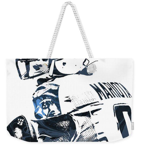 Marcus Mariota Tennessee Titans Pixel Art Weekender Tote Bag