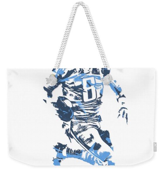 Marcus Mariota Tennessee Titans Pixel Art T Shirt 3 Weekender Tote Bag