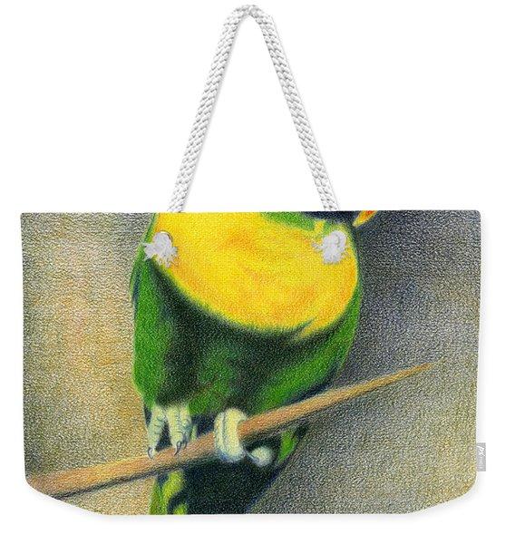 Marigold Lorikeet Weekender Tote Bag