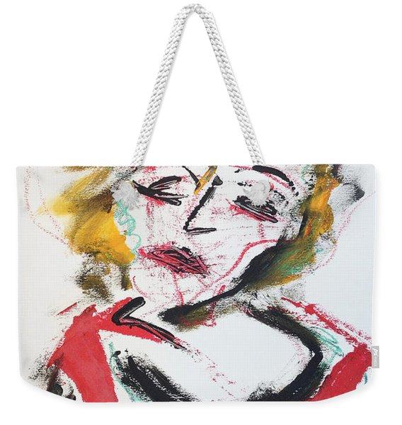 Marilyn Abstract Weekender Tote Bag