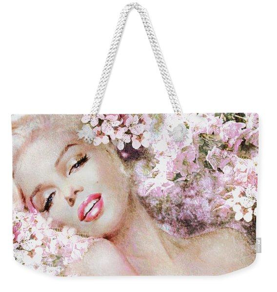 Marilyn Cherry Blossom B Weekender Tote Bag