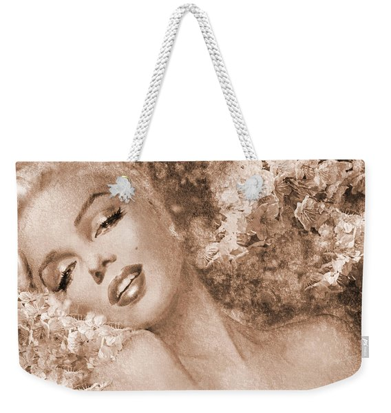 Marilyn Cherry Blossoms, Sepia Weekender Tote Bag