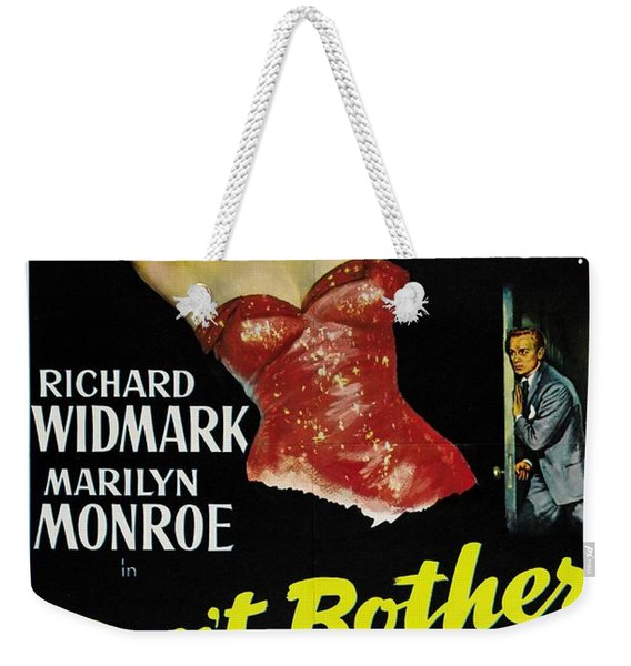 Marilyn Monroe And Richard Widmark In Don't Bother To Knock Weekender Tote Bag