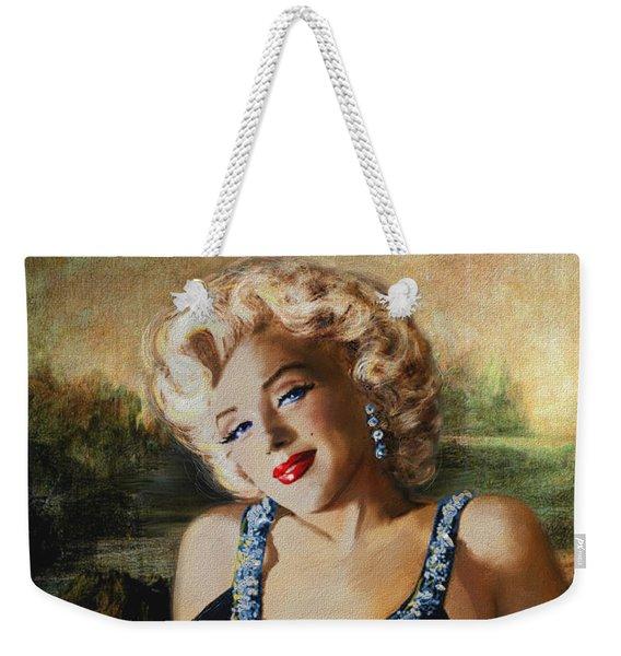Marilyn Monroe  Mona Lisa  Weekender Tote Bag