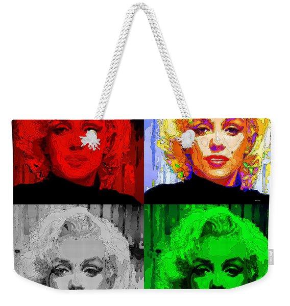 Marilyn Monroe - Quad. Pop Art Weekender Tote Bag