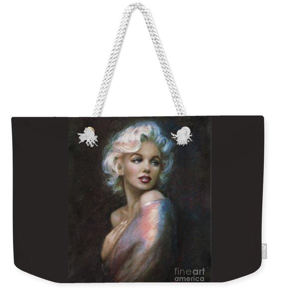 Marilyn Romantic Ww 4 Blue Weekender Tote Bag