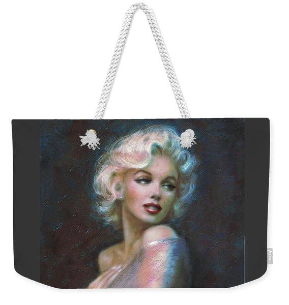 Marilyn Romantic Ww Dark Blue Weekender Tote Bag