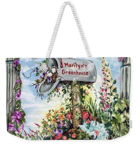 Marilyn's Greenhouse Weekender Tote Bag