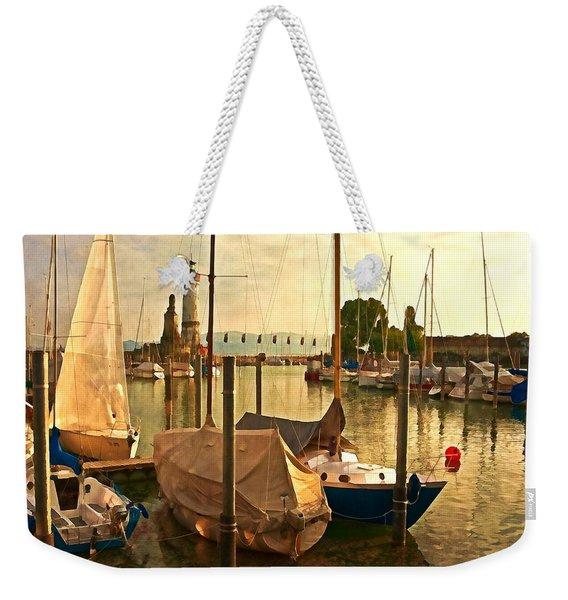 Marina At Golden Light - Digital Paint Weekender Tote Bag