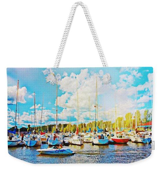 Marina In The Summertime Weekender Tote Bag