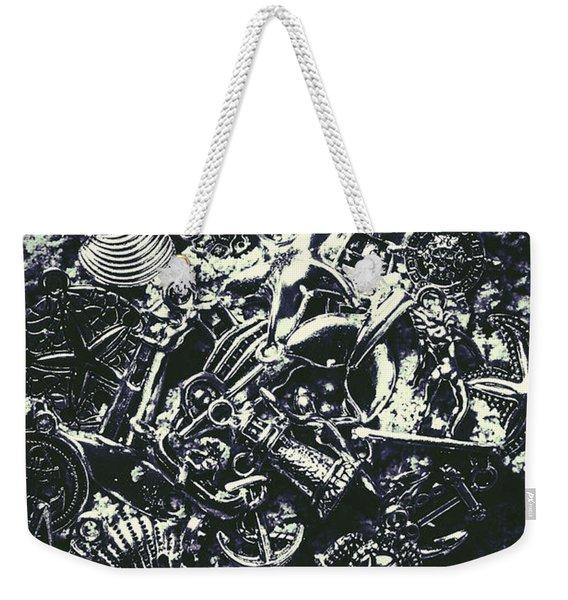 Marine Elemental Abstraction Weekender Tote Bag