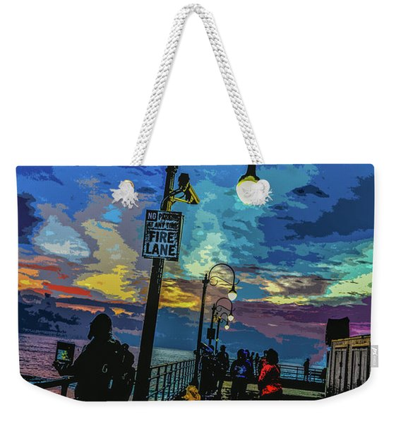 Marine's Silhouette  Weekender Tote Bag