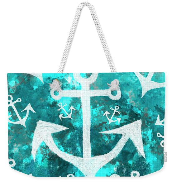 Maritime Anchor Art Weekender Tote Bag