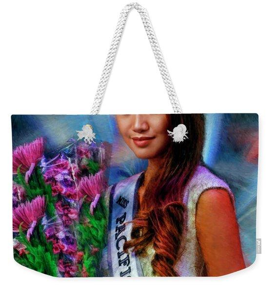 Marizza Delgado Miss Pacific Coast Teen 2016 Weekender Tote Bag