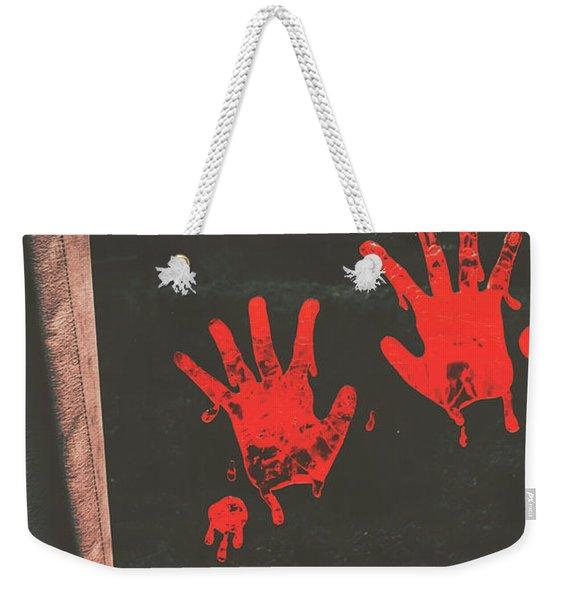 Mark Of Murder Weekender Tote Bag