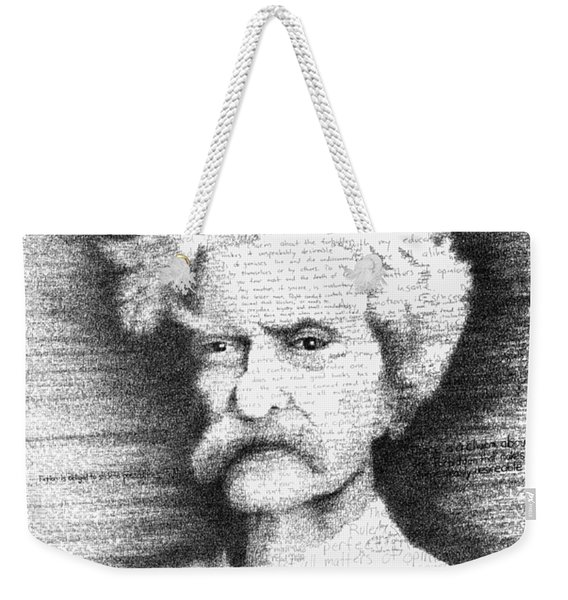 Mark Twain In His Own Words Weekender Tote Bag