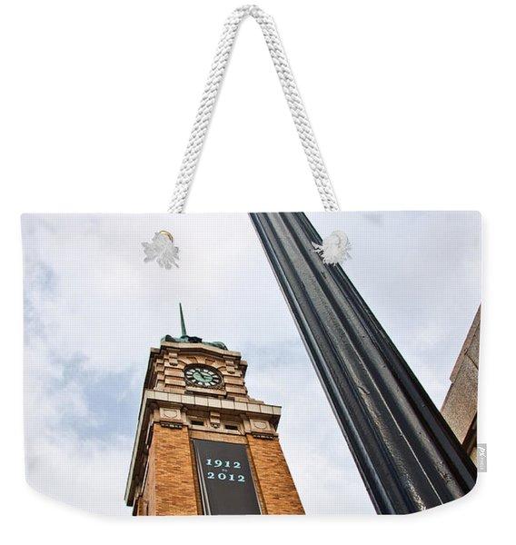 Market Clock Tower Weekender Tote Bag