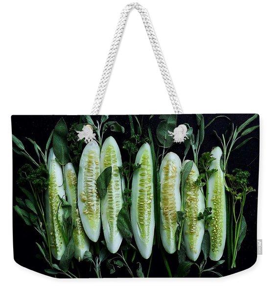 Market Cucumbers Weekender Tote Bag