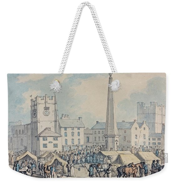 Market Day At Richmond In Yorkshire Weekender Tote Bag