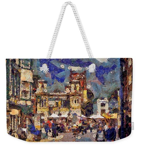 Market Square Monday Weekender Tote Bag