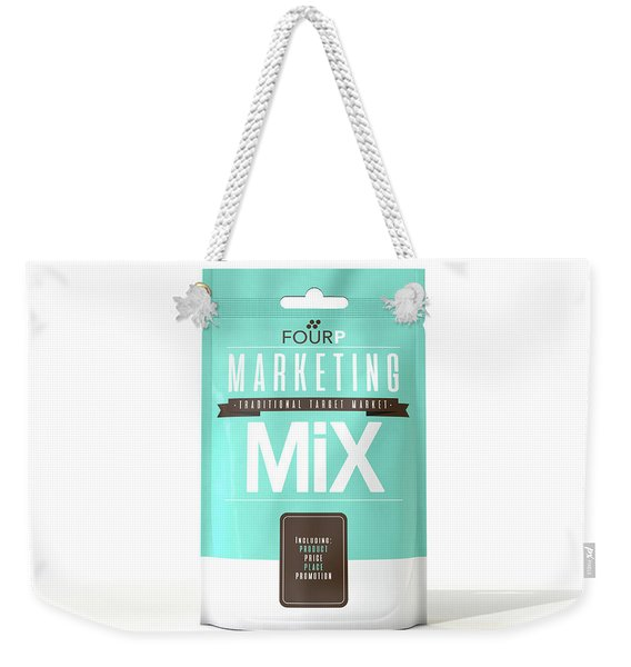 Marketing Mix 4 P's Weekender Tote Bag