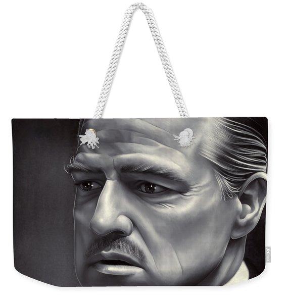 Marlon Brando Drawing  Weekender Tote Bag