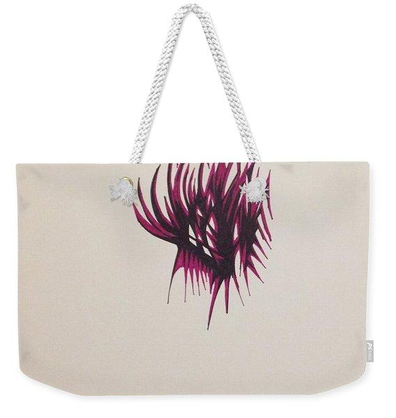 Maroon Feathers Weekender Tote Bag