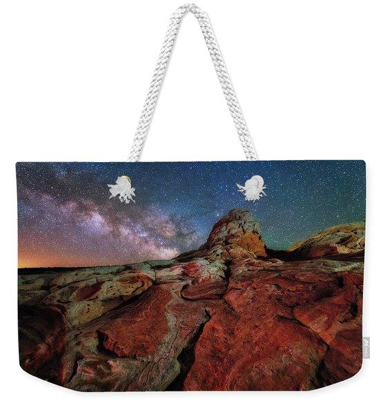 Mars Or White Pocket Milky Way Weekender Tote Bag