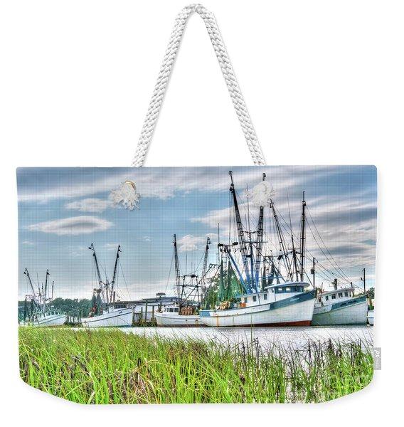 Marsh View Shrimp Boats Weekender Tote Bag