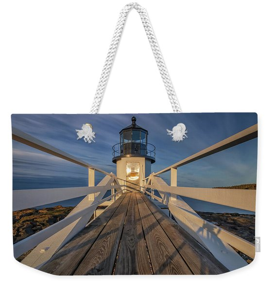 Marshall Point Lighthouse At Sunrise Weekender Tote Bag