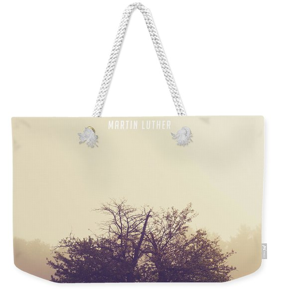 Martin Luther Apple Tree Quote Weekender Tote Bag