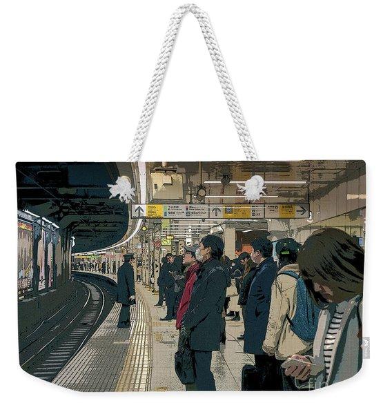 Marunouchi Line, Tokyo Metro Japan Poster 2 Weekender Tote Bag