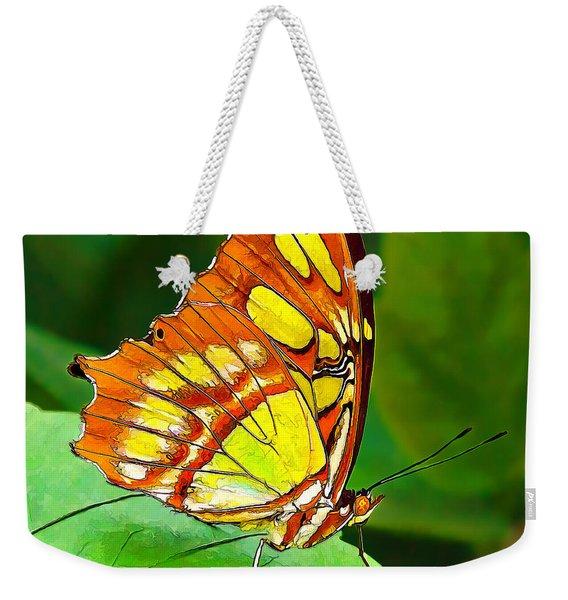 Marvelous Malachite Butterfly Weekender Tote Bag