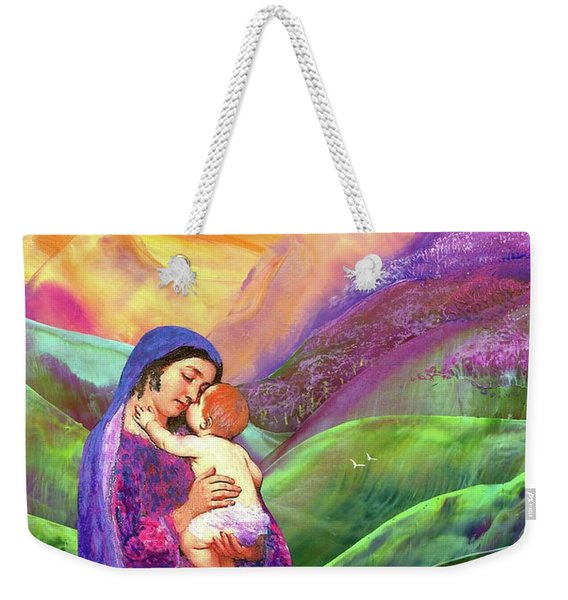 Mary And Baby Jesus Gift Of Love Weekender Tote Bag