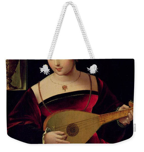 Mary Magdalene Playing The Lute Weekender Tote Bag