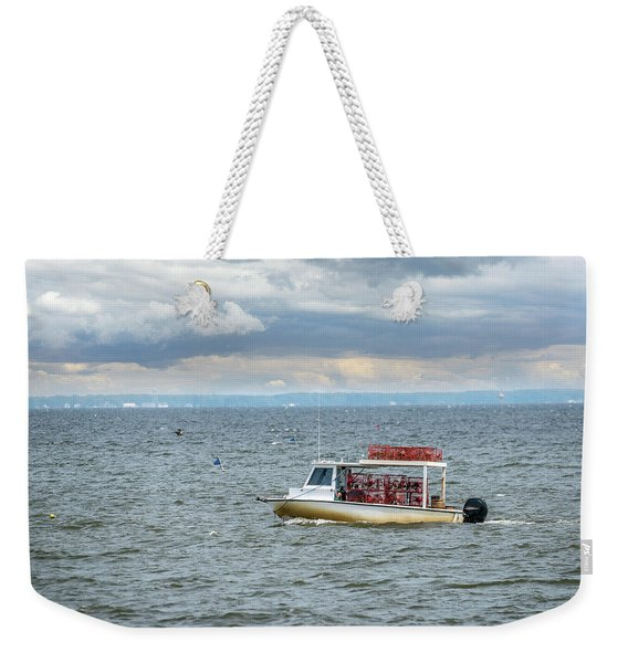 Maryland Crab Boat Fishing On The Chesapeake Bay Weekender Tote Bag
