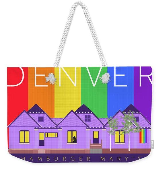 Mary's Rainbow Weekender Tote Bag