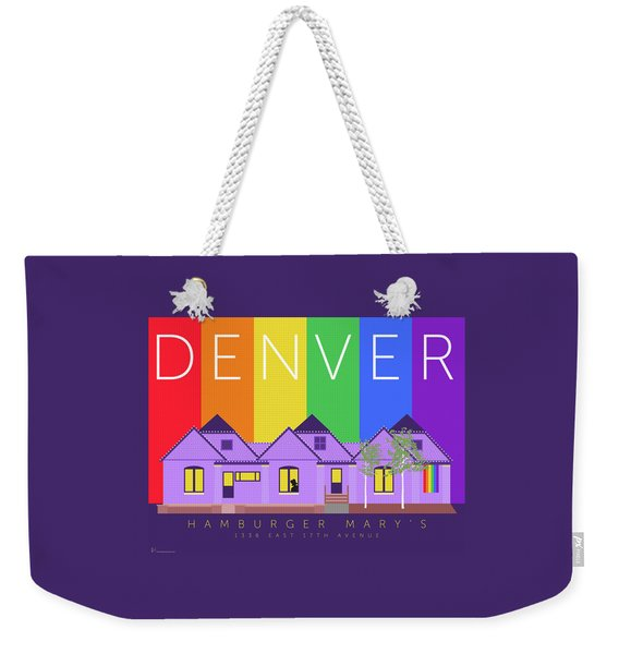 Mary's Rainbow Weekender Tote Bag