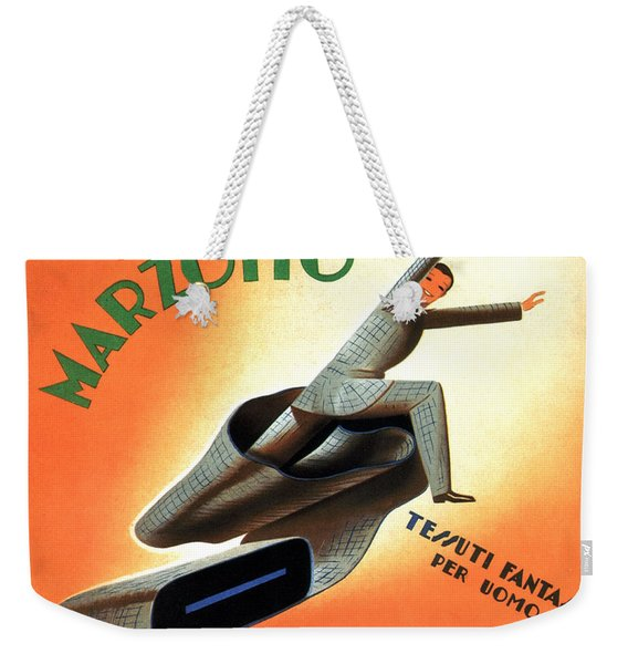 Marzotto - Fabric For Men - Vintage Advertising Poster Weekender Tote Bag