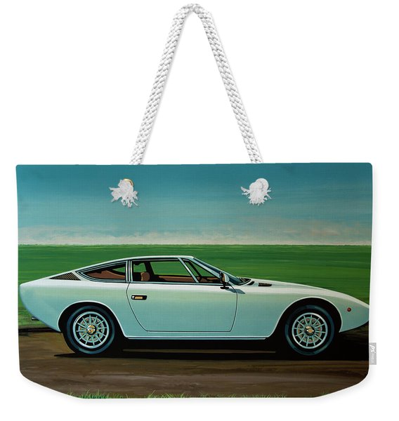 Maserati Khamsin 1974 Painting Weekender Tote Bag